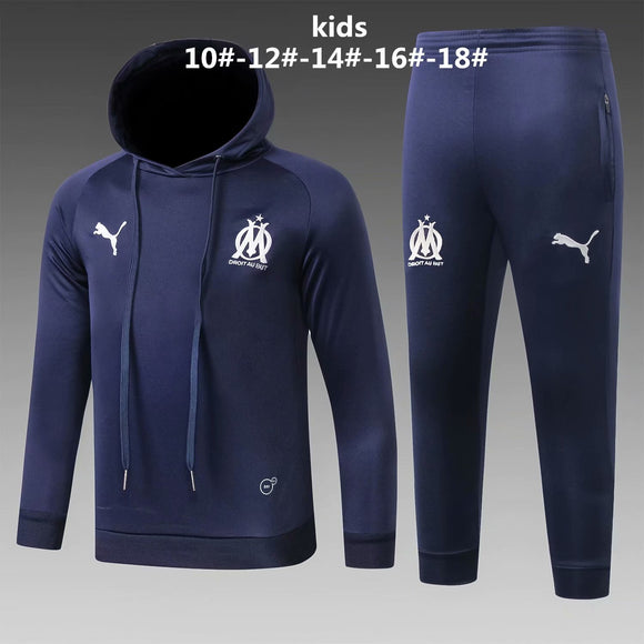 Marseille | Kids Dark Blue Hoodies Sweater + Pants 18/19