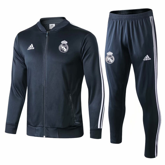 Real Madrid | Dark Grey Training Tracksuit 18/19