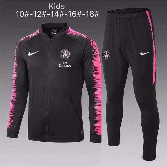 PSG | Black Type B | Kids Training Tracksuit 18/19