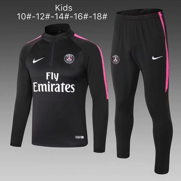 PSG | Black Type A | Kids Training Tracksuit 18/19