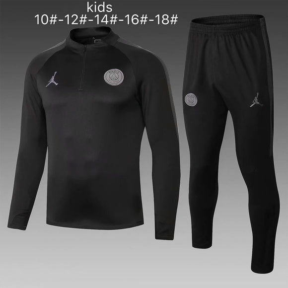 PSG | Jordan Black Kids Training Top + Pants 18/19