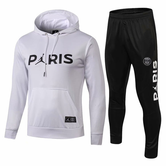 PSG | Jordan White Hoodie  Sweater  + Pants Training Suit 18/19