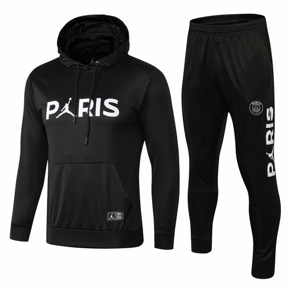 PSG | Jordan Black Hoodie Sweater + Pants Training Suit 18/19