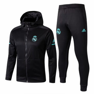 Real Madrid | Black Hoodie Jacket + Pants Training Suit 17/18