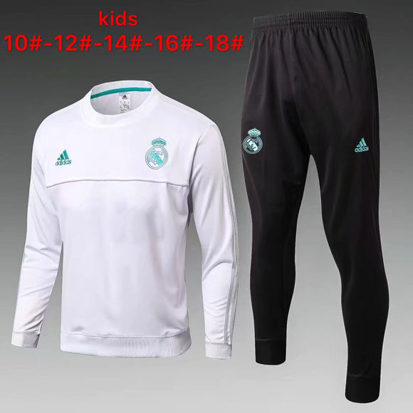 Real Madrid | White Kids Training Top + Pants 17/18
