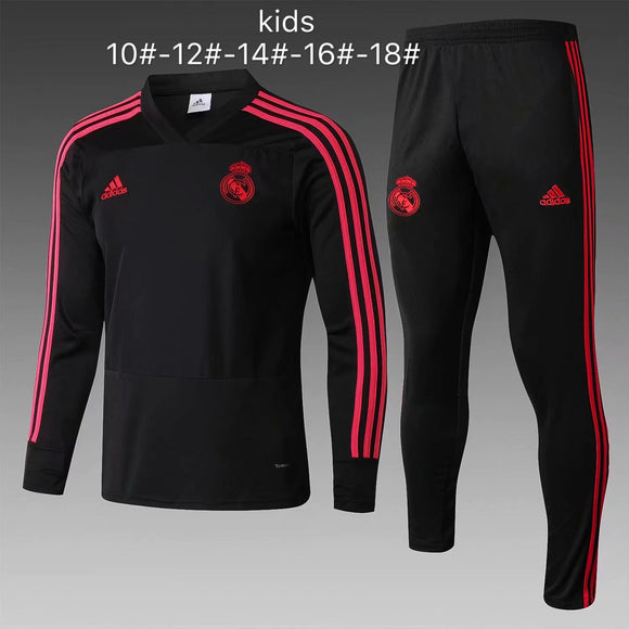 Real Madrid | Black Kids Training Top + Pants 18/19