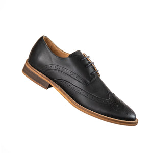 Classic Vegan Black Wingtip Oxford