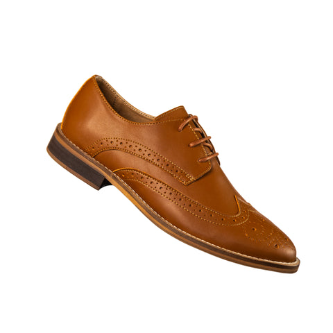 Classic Vegan Brown Wingtip Oxford