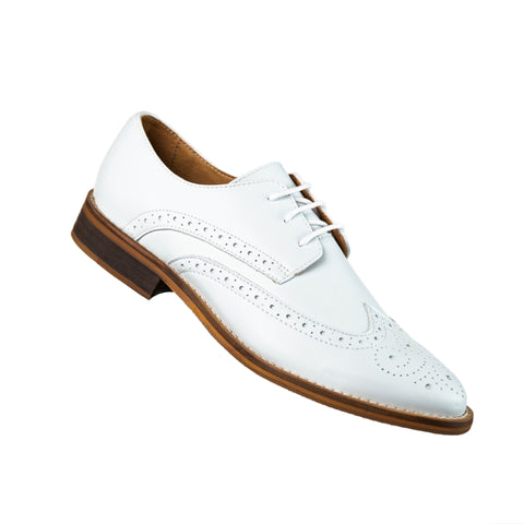 Classic Vegan White Wingtip Oxford
