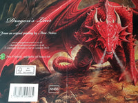 Dragons Lair Birthday Greeting Card by Anne Stokes