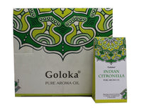 GOLOKA INDIAN CITRONELLA PURE FRAGRANCE OIL 10 ML FOR GNATS