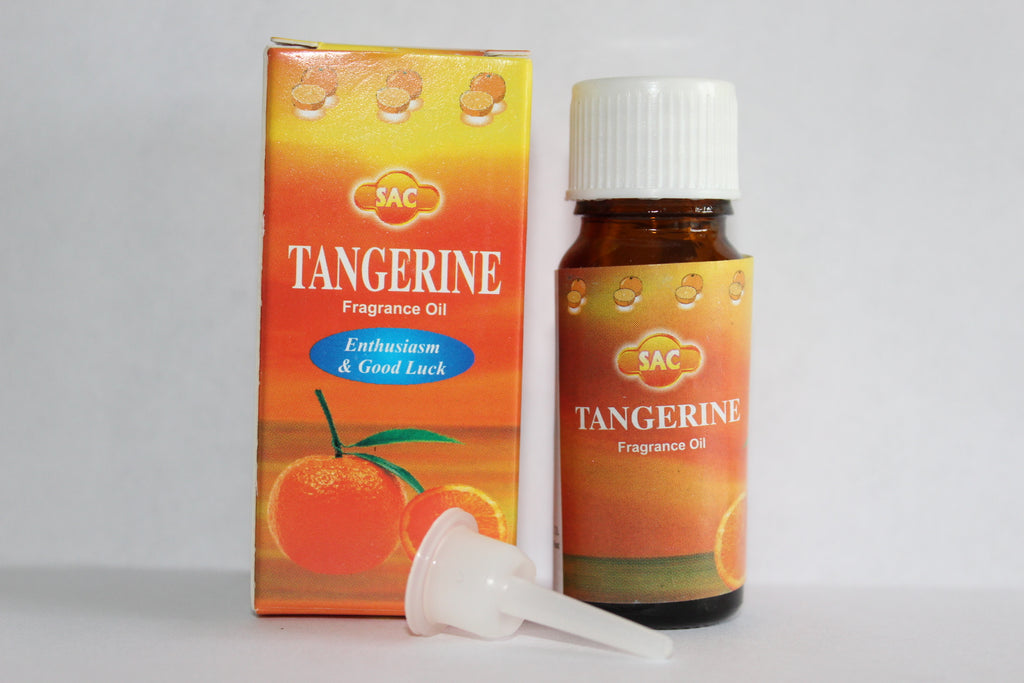 SAC TANGERINE FRAGRANCE OIL 10 ML BOTTLE FOR OIL BURNERS PROSPERITY