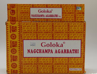 Goloka Nag Champa Agarbathi Incense Sticks 15 gm Packet