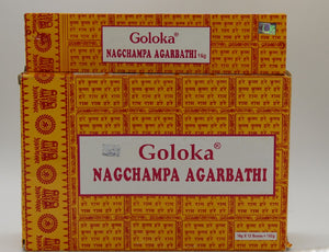 GOLOKA NAG CHAMPA AGARBATHI INCENSE STICKS 15GM PACKET FOR DREAMS & PURIFICATION