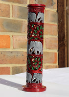 Hand Painted Elephant and Leaf Incense Burner for Incense Sticks