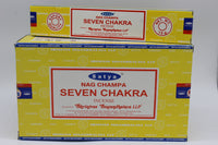SATYA SEVEN CHAKRA INCENSE STICKS JOSS STICKS 15 GM PACKETS