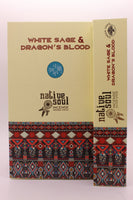 Green Tree Native Soul White Sage and Dragons Blood Incense Sticks