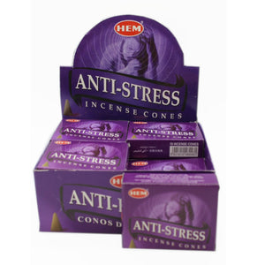 box of Hem anti stress incense cones