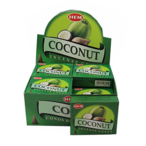Hem Coconut Incense Cones 10 Cones per packet