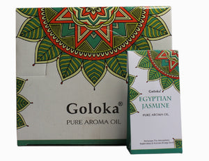 GOLOKA EGYPTIAN JASMINE PURE FRAGRANCE OIL FOR OIL BURNERS & GOOD LUCK