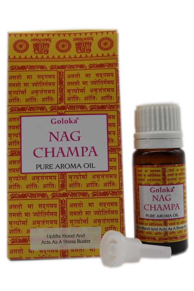 GOLOKA NAG CHAMPA PURE FRAGRANCE OIL 10 ML BOTTLE FOR DREAMS AND PURIFICATION