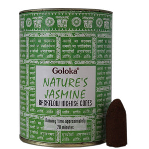 Goloka Natures Jasmine Back Flow Incense Cones