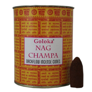 Goloka Nag Champa Back Flow Incense Cones