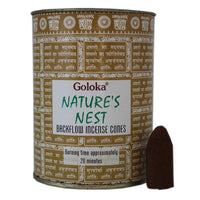 Goloka Natures Nest Back Flow Incense Cones