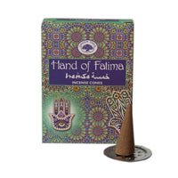 Green Tree Hand of Fatima Incense Cones 10 per Packet