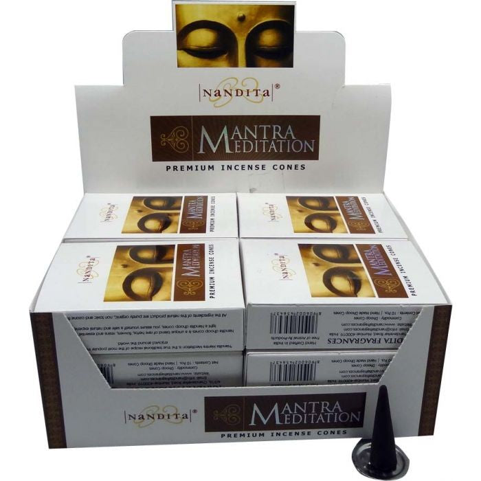 Nandita Mantra Meditation Incense Cones