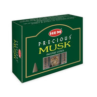 HEM PRECIOUS MUSK INCENSE CONES A MUST FOR A ROMANTIC NIGHT IN