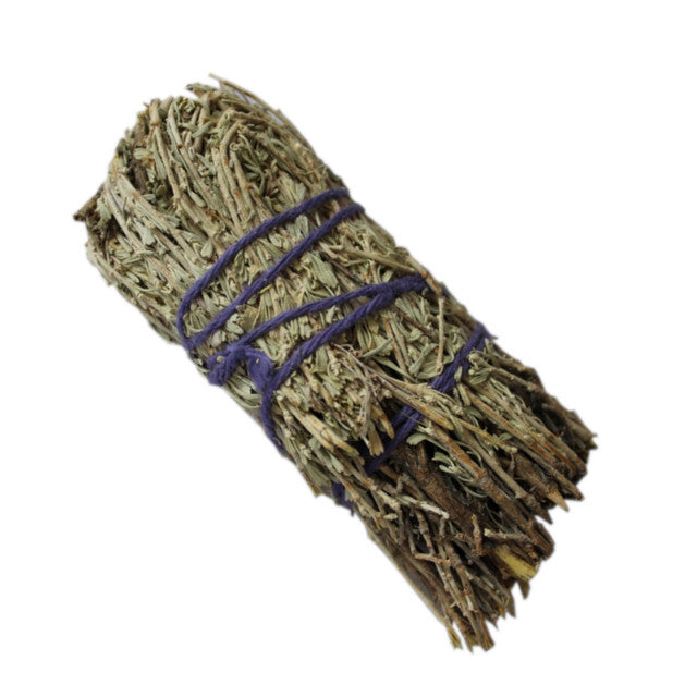5 inch sage smudge bound with natural cotton strand