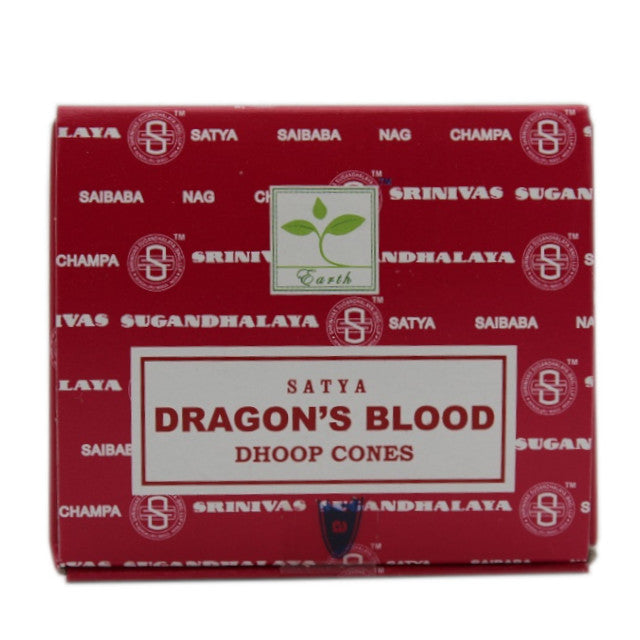 one packet of Satya Dragons Blood incense cones