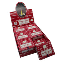 picture showing a full box of Satya Dragons Blood incense cones