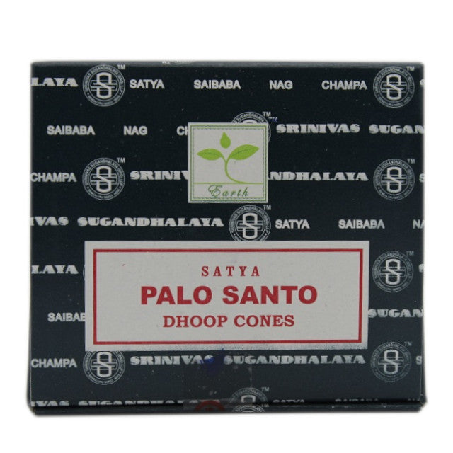 one packet of Satya Palo Santo incense cones with ten cones per packet