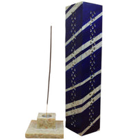 rectangle up right incense burner showing base with incense stick