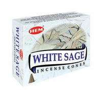 HEM WHITE SAGE INCENSE CONES FOR HEALING & CLEANSING