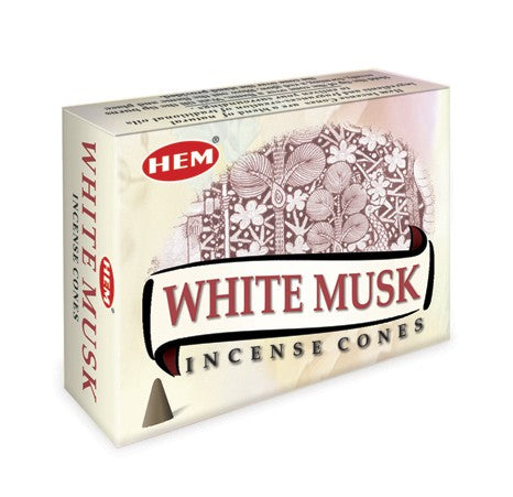 HEM WHITE MUSK INCENSE CONES FOR RELAXATION & ROMANCE