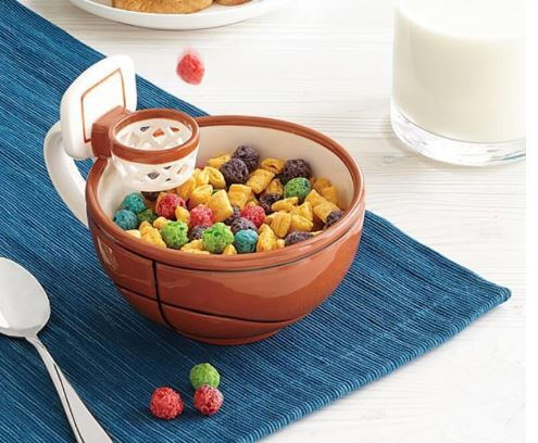 Basketball Cereal Bowl, Unique Gift - The ShopCircuit