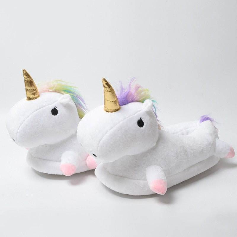 Unicorn Plush Shoes - Unisex, Unique Gift - The ShopCircuit