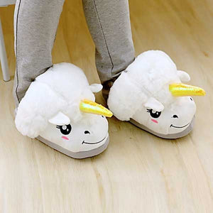Unicorn Plush Slippers - The ShopCircuit