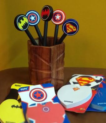Sticky Notepad with Pen - Superhero, Unique Gift - The ShopCircuit