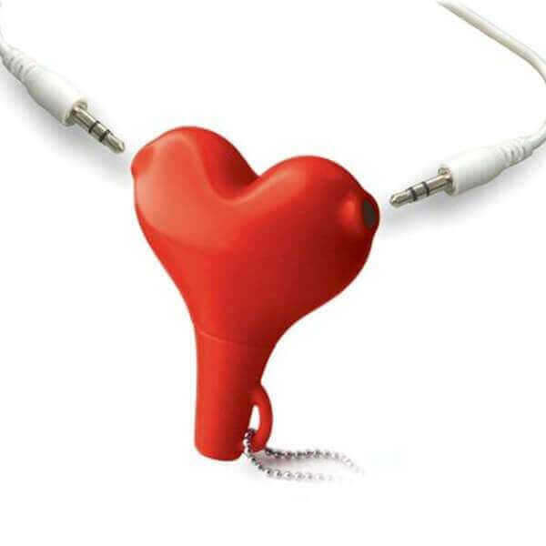 Heart shape Headphone Splitter - The ShopCircuit