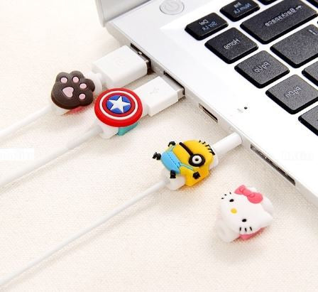 Cartoon Cable Protector - 4 Pcs - The ShopCircuit