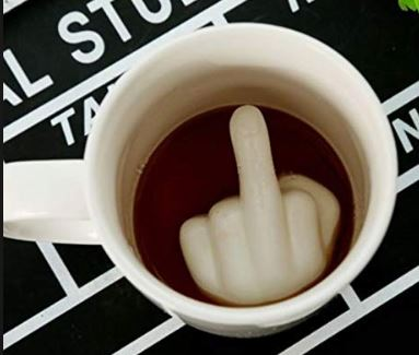 Middle Finger Mug, Unique Gift - The ShopCircuit