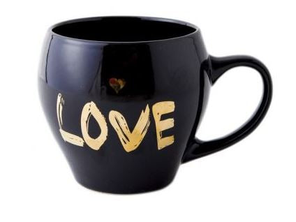 Stylish Black Mug - Love, Unique Gift - The ShopCircuit