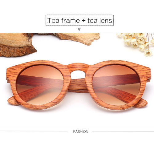 Vintage Wood Style Sunglasses, Makeup - The ShopCircuit