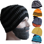 Men Knit Crochet Beard Hat, Unique Gift - The ShopCircuit