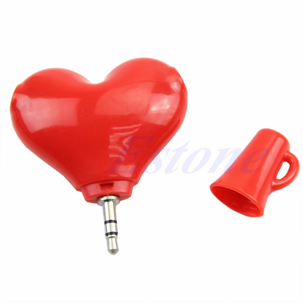 Heart shape Headphone Splitter, Unique Gift - The ShopCircuit