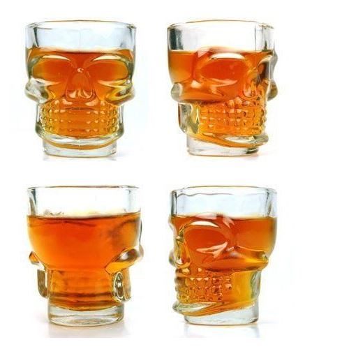 Skull Head Shot Glass - Crystal 2Pcs, Unique Gift - The ShopCircuit